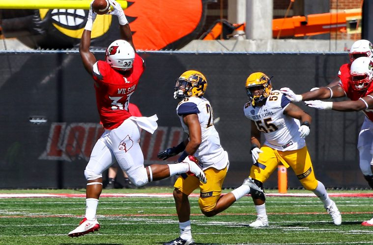 Colin Wilson Louisville Football vs. Kent State 9-23-2017 Photo by William Caudill, TheCrunchZone.com
