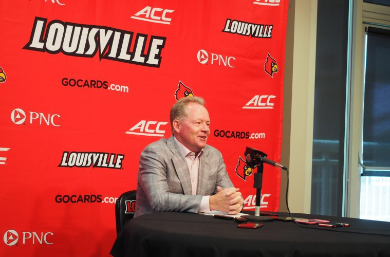 Bobby Petrino Previews North Carolina 9-4-2017 Photo by Cindy Shelton, TheCrunchZone.com