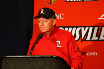 Bobby Petrino Post-Game Press Conference Louisville vs. Purdue 9-2-2017 Photo by William Caudill, TheCrunchZone.com