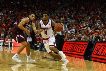 Quentin Snider, Louisville Basketball vs. Bellarmine by William Caudill, 11-7-2017, TheCrunchZone.com
