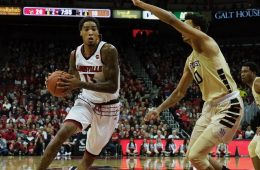 Ray Spalding Louisville vs. Wake Forest 1-27-2018 Photo by Cindy Rice Shelton, TheCrunchZone.com