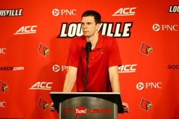 David Padgett Louisville vs. Wake Forest 1-27-2018 Photo by William Caudill, TheCrunchZone.com