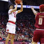 Jordan Nwora, Ky Bowman Louisville vs. Boston College 1-21-2018 Photo by William Caudill, TheCrunchZone.com