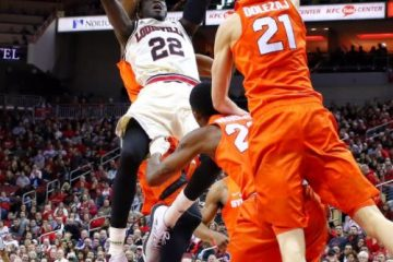 Deng Adel Louisville vs. Syracuse 2-5-2018 Photo by William Caudill, TheCrunchZone.com