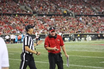 Bobby Petrino Louisville vs. Western Kentucky 9-15-2018 Photo by William Caudill, TheCrunchZone.com