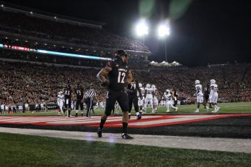 Trey Smith TD Louisville vs. Georgia Tech 10-5-2018 Photo by William Caudill, TheCrunchZone.com