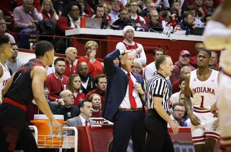 Chris Mack 12-8-2018 Louisville vs. Indiana Photo by Nancy Hanner, TheCrunchZone.com