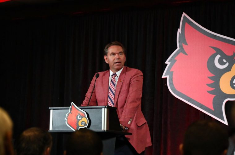 Vince Tyra, Scott Satterfield Introductory Press Conference 12-4-2018 Photo by William Caudill, TheCrunchZone.com
