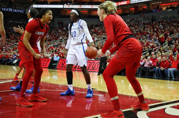 Arica Carter, Sam Fuehring Louisville vs. Kentucky 12-9-2018 Photo by William Caudill, TheCrunchZone.com