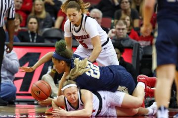 Jessica Laemmle Louisville vs. Pitt 1-27-2019 Photo by William Caudill, TheCrunchZone.com