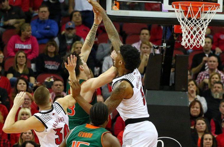 Malik Williams Louisville vs. Miami 1-6-2019 Photo by William Caudill, TheCrunchZone.com