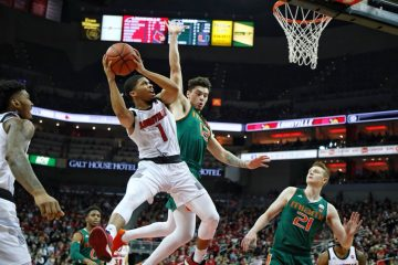 Christen Cunningham Louisville vs. Miami 1-6-2019 Photo by William Caudill, TheCrunchZone.com
