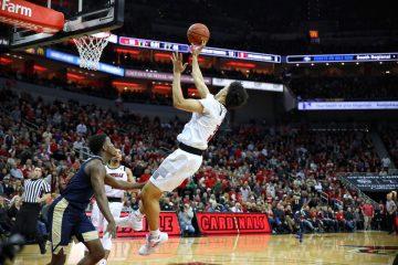 Jordan Nwora Louisville vs. Pitt Post-Game 1-26-2019 Photo by William Caudill, TheCrunchZone.com