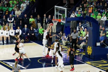 Louisville Women's Basketball at Notre Dame. Thursday, 10 January 2019.