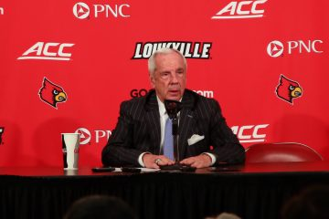 Roy Williams Louisville vs. North Carolina 2-2-2019 Photo by William Caudill, TheCrunchZone.com