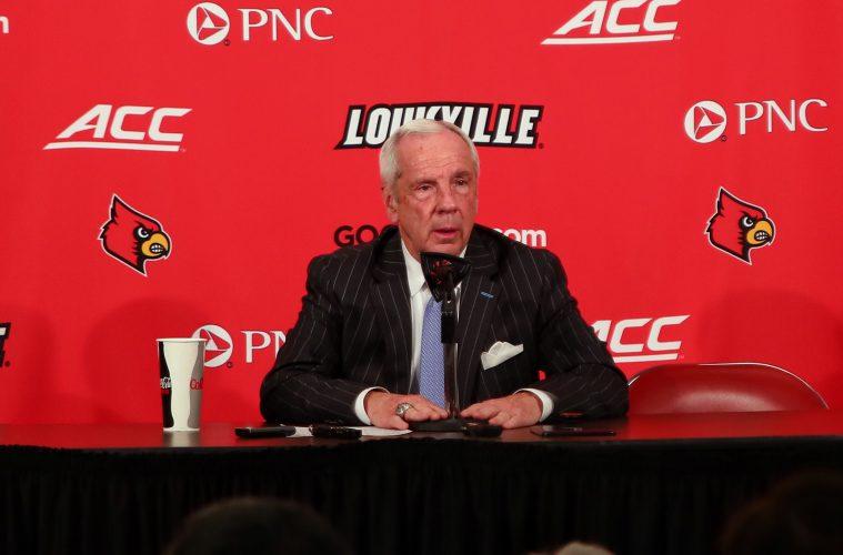 Roy Williams Louisville vs. North Carolina 2-2-2019 Photo by William Caudill, TheCrunchZone.com