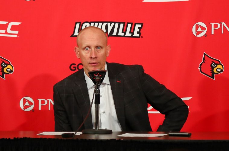 Chris Mack Louisville vs. Virginia Post-Game 2-23-2019, Photo by William Caudill, TheCrunchZone.com