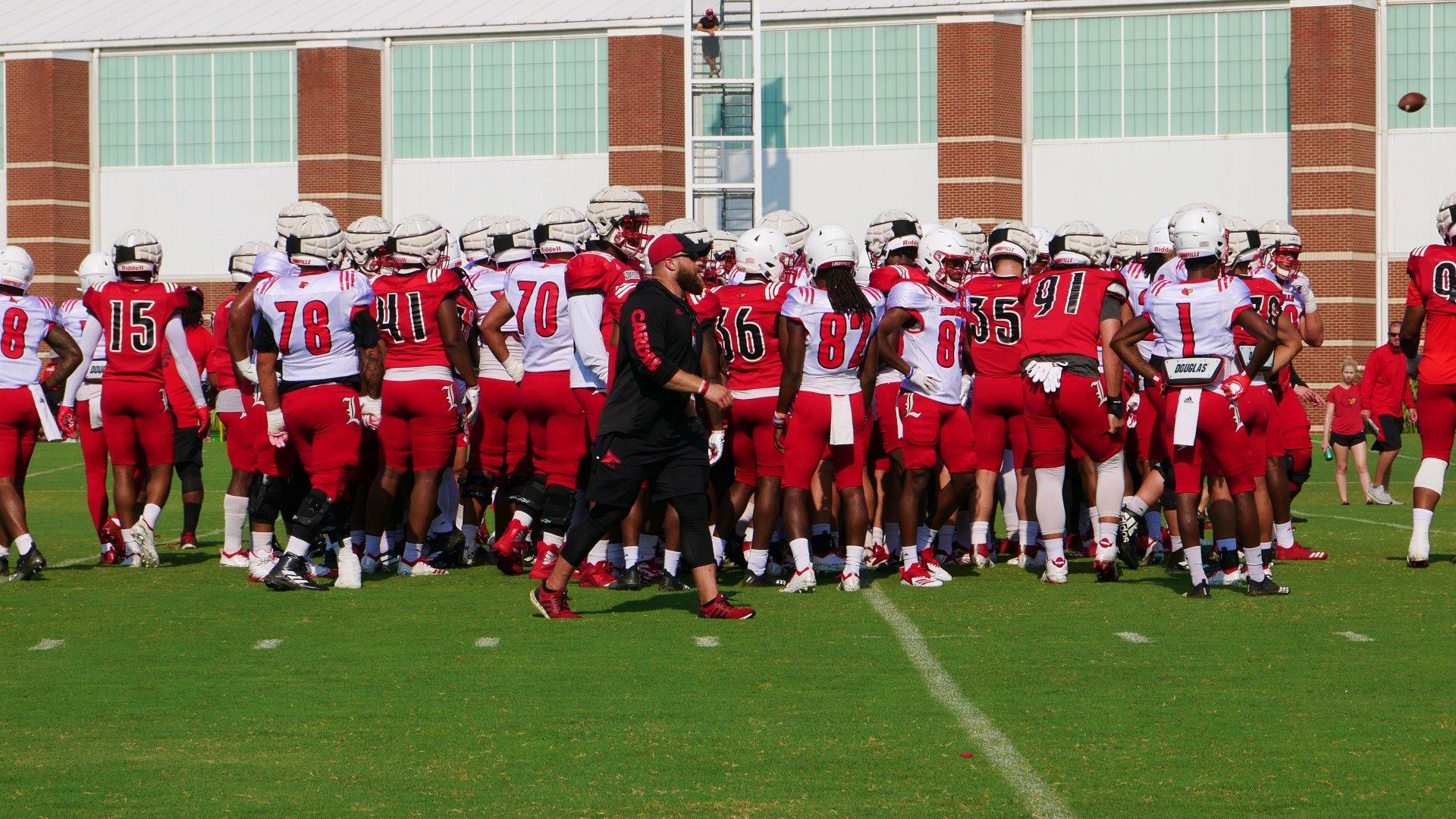 Louisville Football Fall Camp 8-14-2019. Photo by Tom Farmer, TheCrunchZone.com