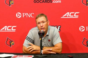 Scott Satterfield Pre-Louisville vs. Florida State 9-16-2019 Photo by Tom Farmer TheCrunchZone.com