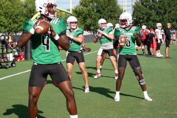 Jawon Pass, Malik Cunningham Louisville Football Practice 9-4-2019 Photo by William Caudill, TheCrunchZone.com