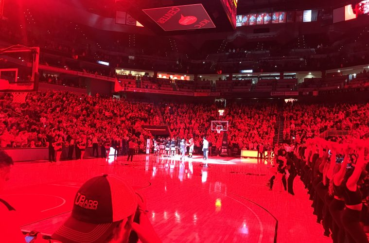 Intro, Red, KFC Yum! Center Louisville vs. Indiana State 11-13-2019 Photo by William Caudill, TheCrunchZone.com