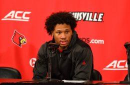 Dwayne Sutton Louisville vs. Virginia Tech 3-1-2020 Photo by William Caudill, TheCrunchZone.com
