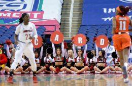 Cheerleaders Louisville Women's Basketball 2020 ACC Tournament